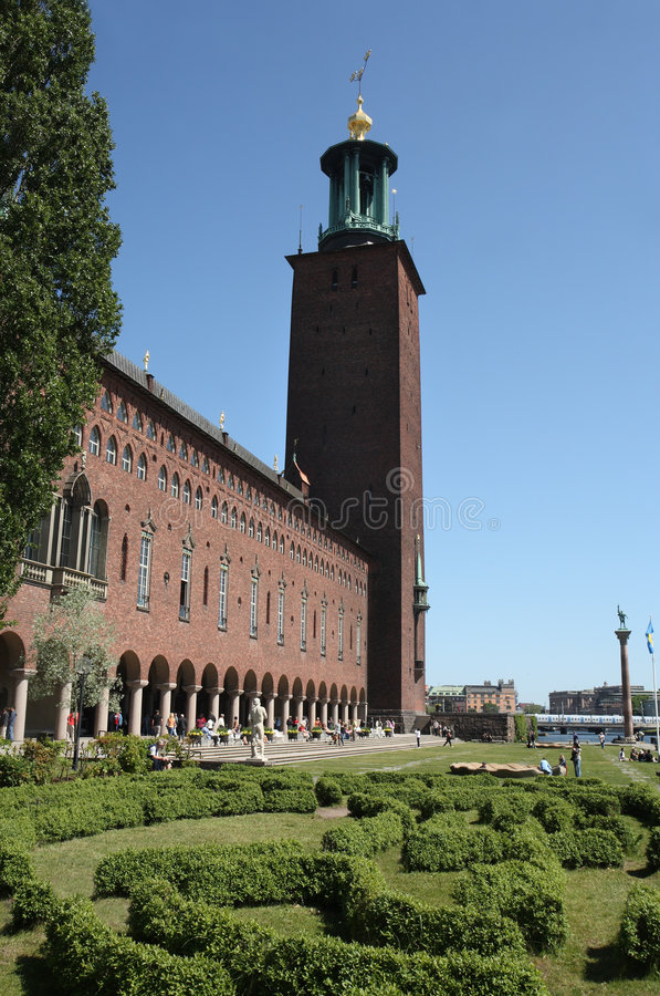 Stadhuis Stockholm, Zweden stock afbeeldingen