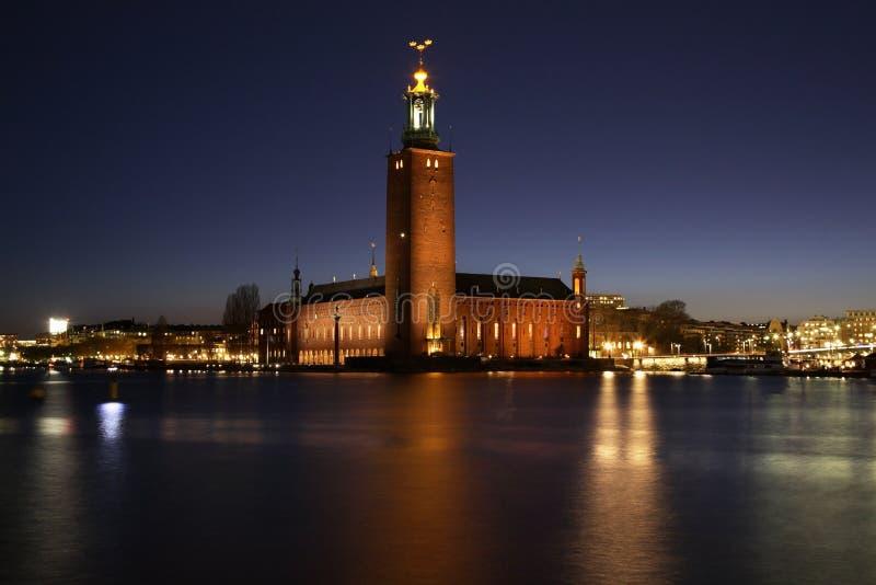 Stadhuis in Stockholm zweden royalty-vrije stock fotografie