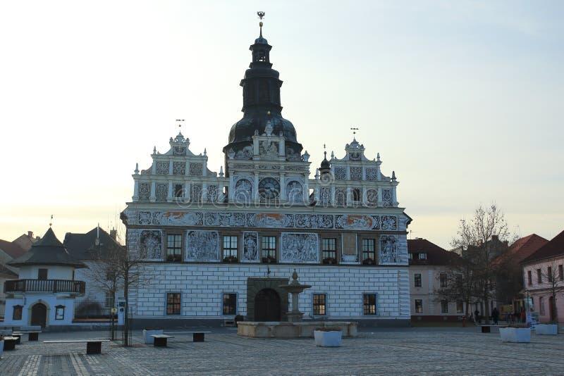 Stadhuis in Stribro royalty-vrije stock foto