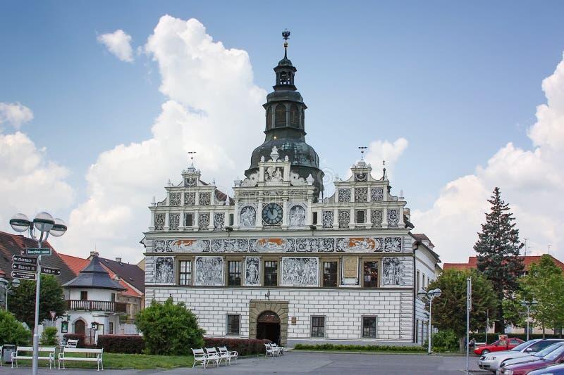 Stadhuis in Stribro, Tsjechische republiek royalty-vrije stock foto's