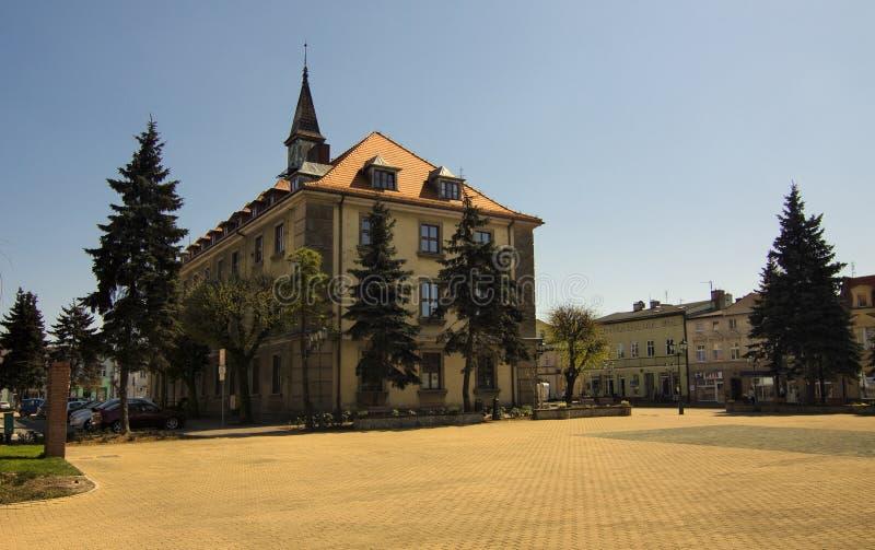 Stadhuis in Swarzedz stock afbeelding