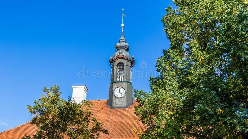 Stadhuis Tartu Estland stock afbeeldingen