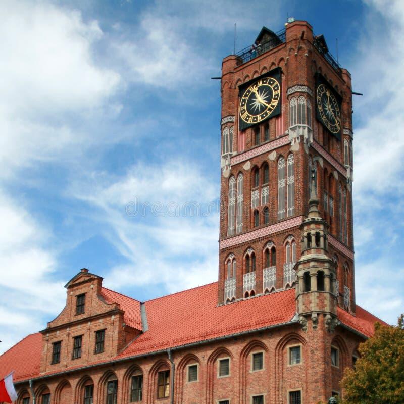 Stadhuis in Torun, Polen stock fotografie
