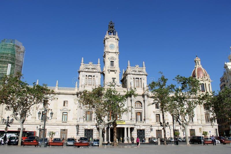 Stadhuis in Valencia, Spanje stock foto's