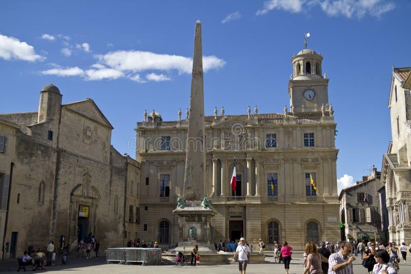 Stadhuis van Arles, Frankrijk stock foto