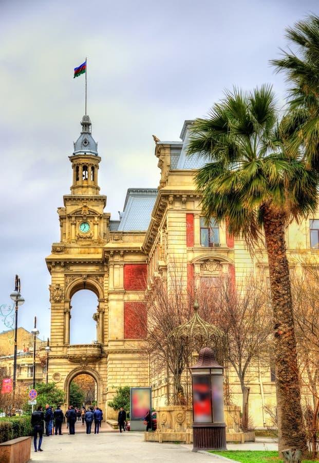 Stadhuis van Baku stock afbeelding