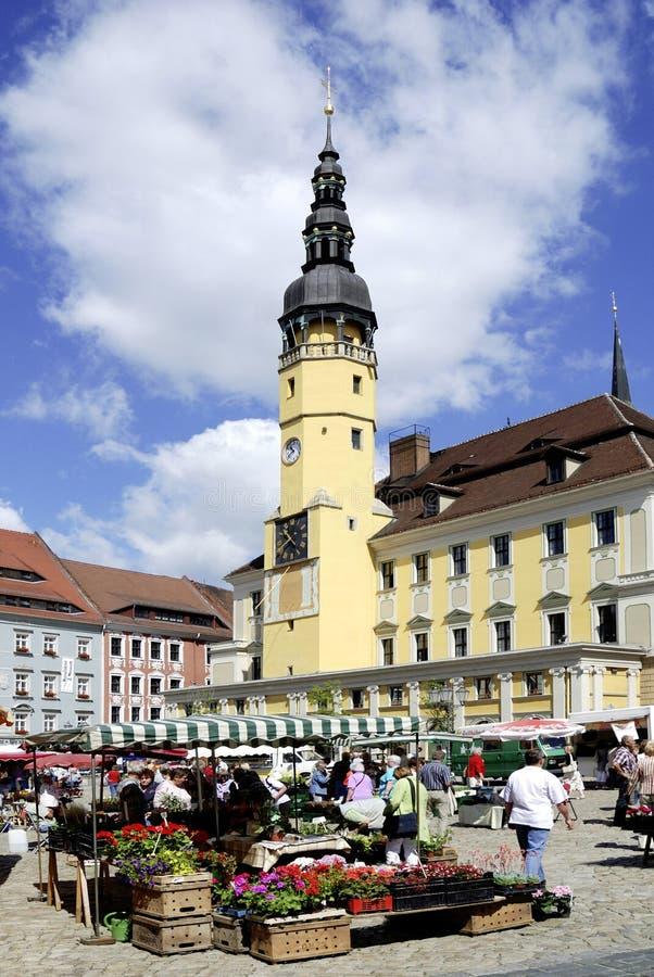 Stadhuis van Bautzen in Duitsland stock foto