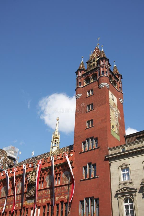 Stadhuis van Bazel stock foto's