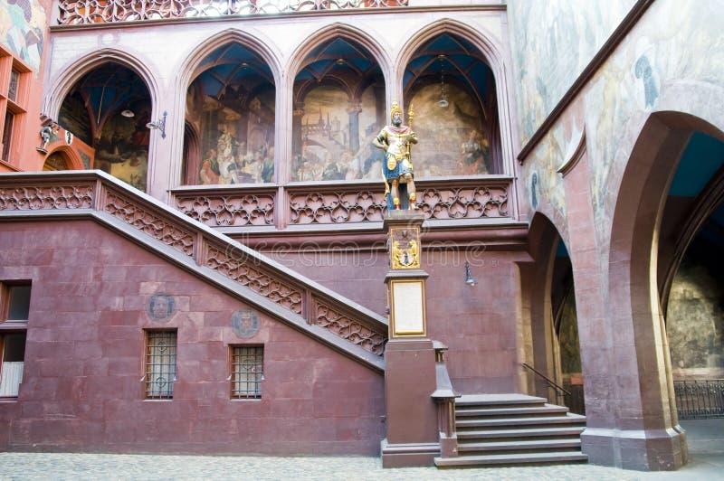 Stadhuis van Bazel stock afbeelding