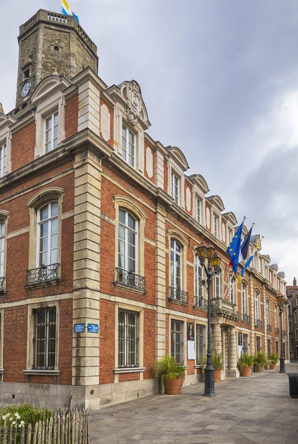 Stadhuis van Boulogne-sur-Mer, Frankrijk stock foto