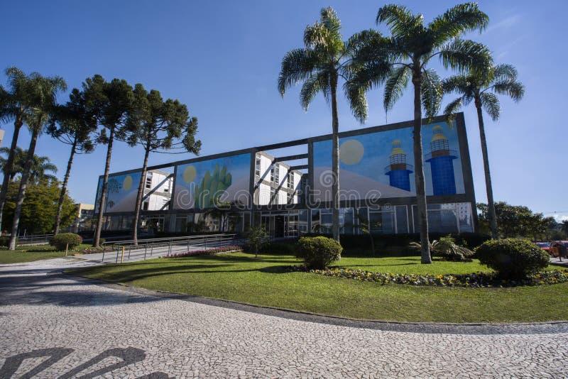 Stadhuis van Curitiba-cityscape, de Staat van Parana, Brazilië 201 juli, royalty-vrije stock fotografie
