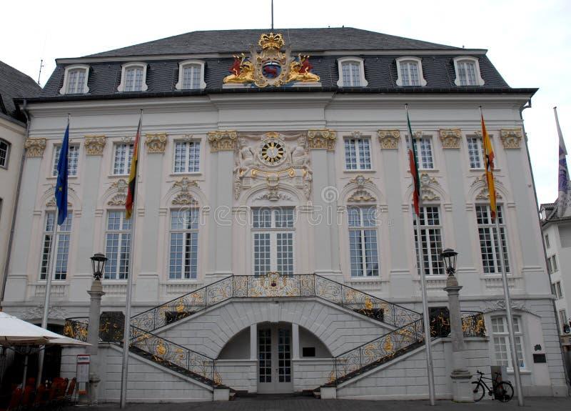 Stadhuis van de stad van Bonn in Duitsland stock fotografie