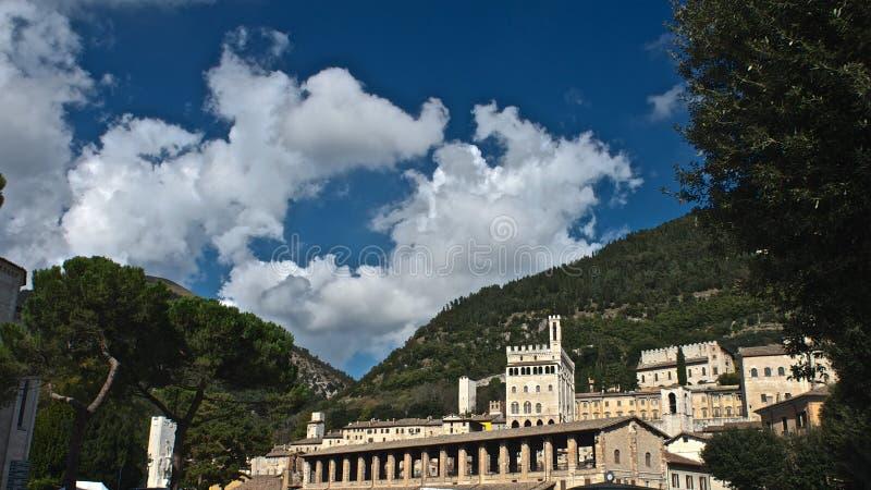 Stadhuis van Gubbio - Perugia royalty-vrije stock afbeeldingen