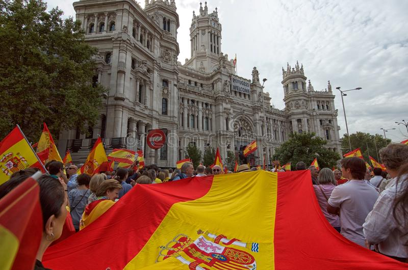 Stadhuis van het vieren van Madrid royalty-vrije stock afbeelding