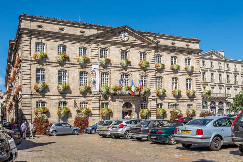 Stadhuis van Le Puy Engelse Velay - Frankrijk stock foto