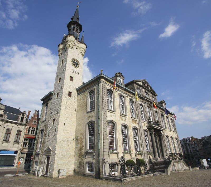 Stadhuis van Lier, België stock afbeelding