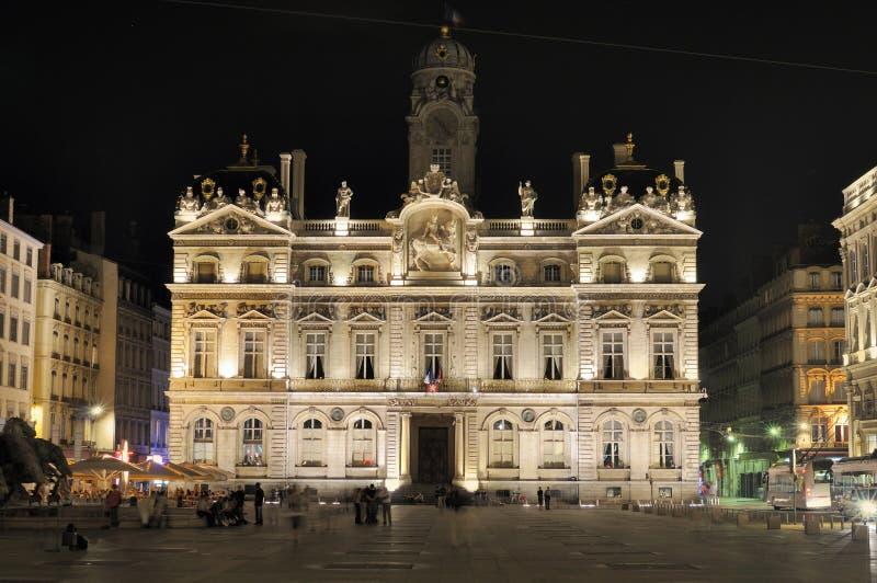 Stadhuis van Lyon. Frankrijk stock afbeeldingen