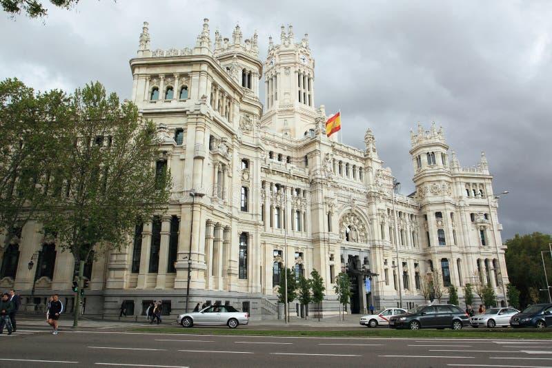 Stadhuis van Madrid royalty-vrije stock afbeeldingen