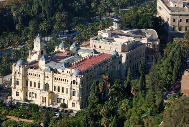 Stadhuis van Malaga, Spanje royalty-vrije stock afbeeldingen