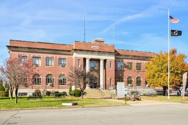 Stadhuis van Massac-Provincie van Metropool, IL royalty-vrije stock afbeelding