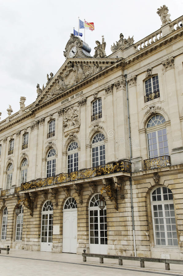 Stadhuis van Nancy, Frankrijk stock fotografie