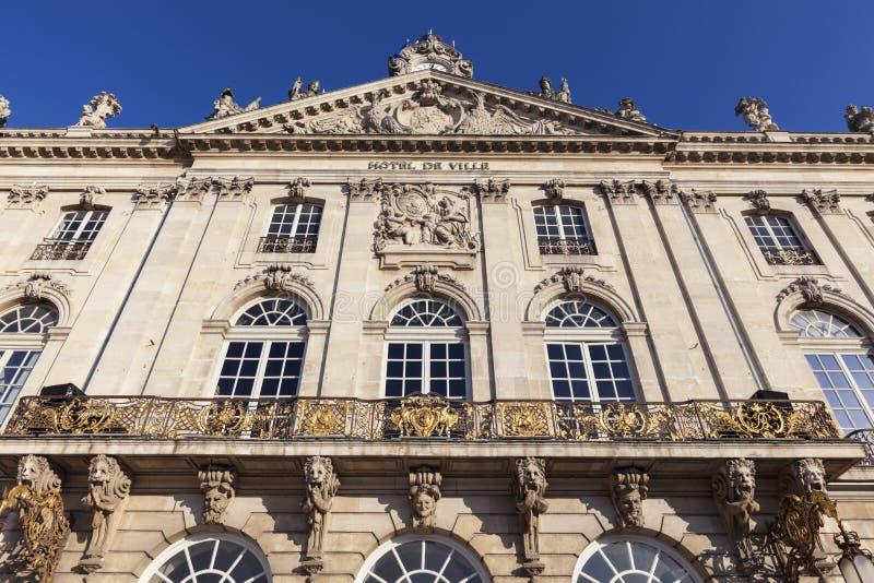 Stadhuis van Nancy - Hotel DE Ville stock afbeelding