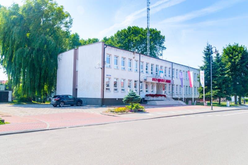 Stadhuis van Nowy Dwor Gdanski stock foto
