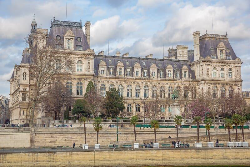 Stadhuis van Parijs royalty-vrije stock afbeeldingen