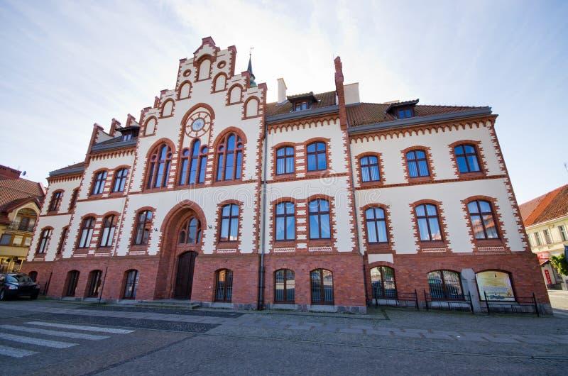 Stadhuis van Pisz, Polen royalty-vrije stock foto's