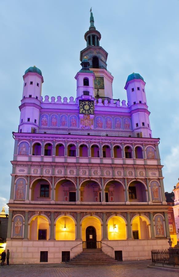 Stadhuis van Poznan, Polen stock afbeeldingen