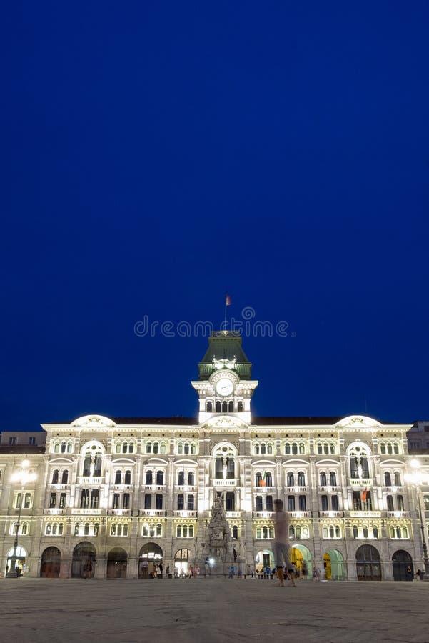 Stadhuis van Triëst, Italië royalty-vrije stock foto's