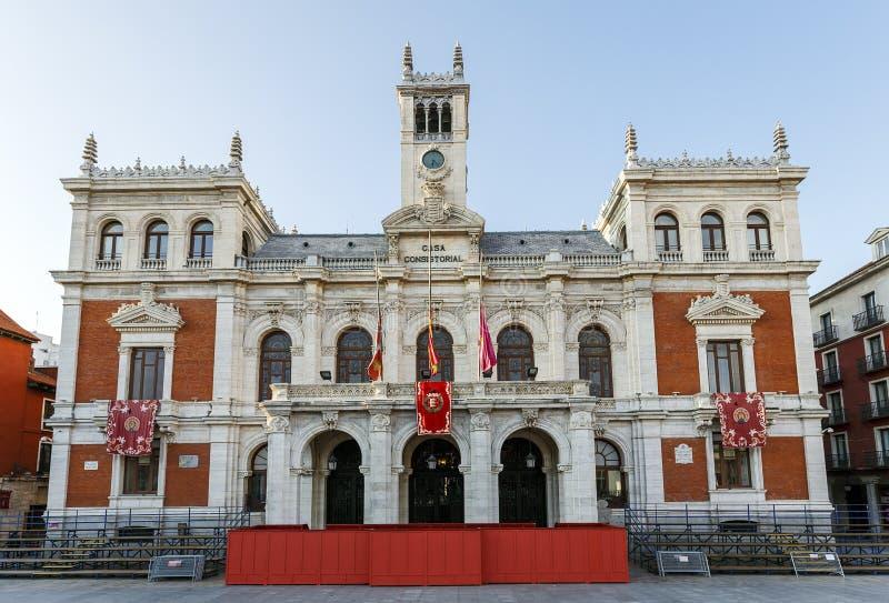 Stadhuis van Valladolid, Spanje stock fotografie