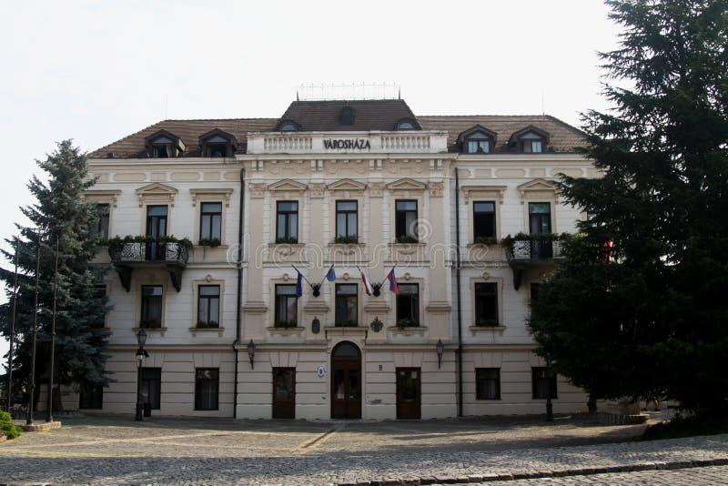 Stadhuis in Veszprem, Hongarije stock foto
