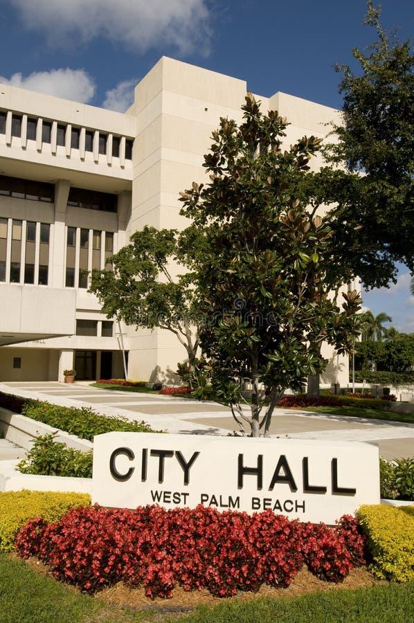 Stadhuis in West-Palm Beach Florida stock afbeeldingen
