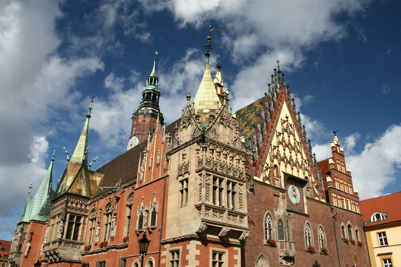 Stadhuis in Wroclaw stock foto