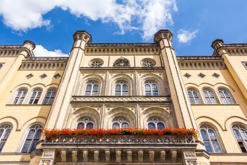Stadhuis in Zittau stock afbeeldingen
