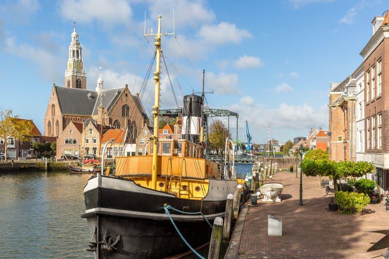 Stadhuiskade, Maassluis holandie zdjęcia royalty free
