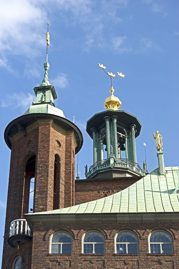 Stadhuistoren in Stockholm royalty-vrije stock foto's