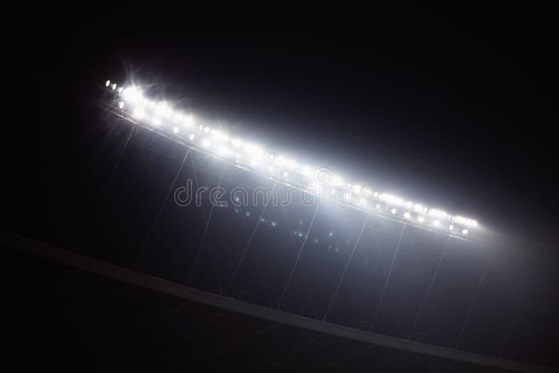 Stadiów floodlights przy nighttime, Pekin, Chiny obraz royalty free