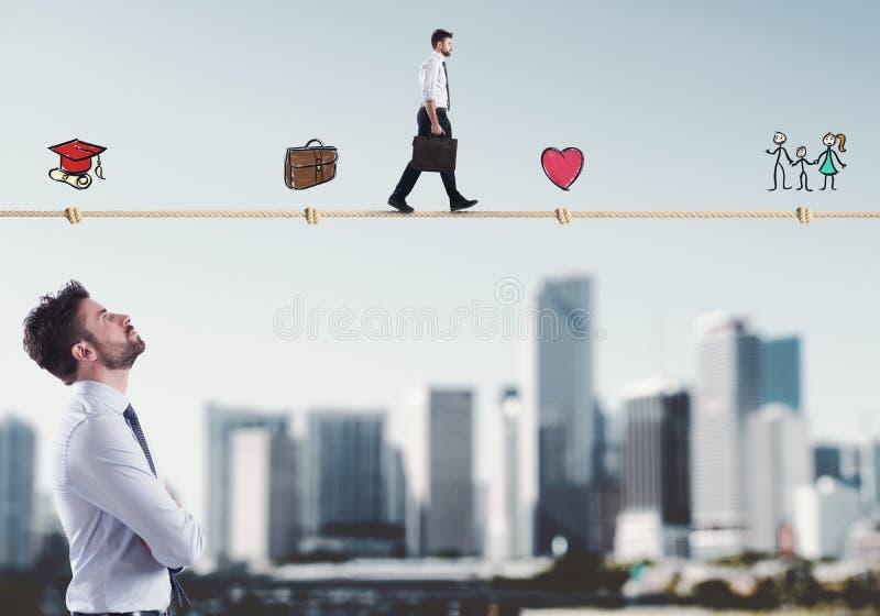 Stadia van het zakenmanleven stock fotografie