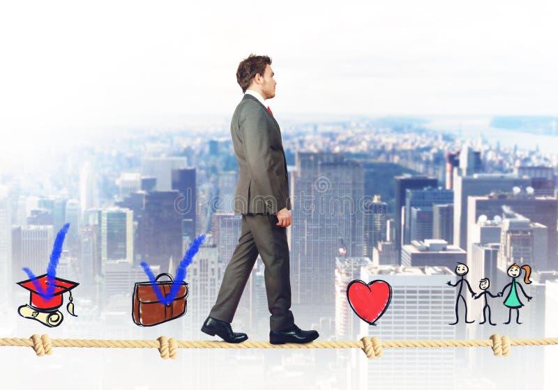 Stadia van succesvolle zakenman stock afbeeldingen