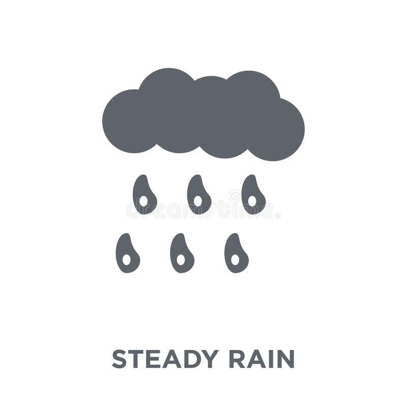 stadig regnsymbol från vädersamling vektor illustrationer