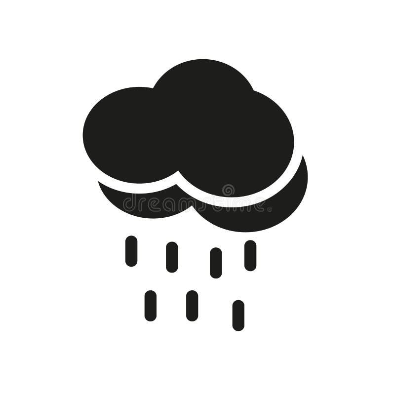 stadig regnsymbol Moderiktigt stadigt regnlogobegrepp på vit backg vektor illustrationer
