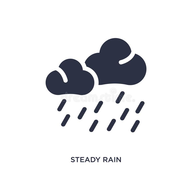 stadig regnsymbol på vit bakgrund Enkel beståndsdelillustration från väderbegrepp vektor illustrationer