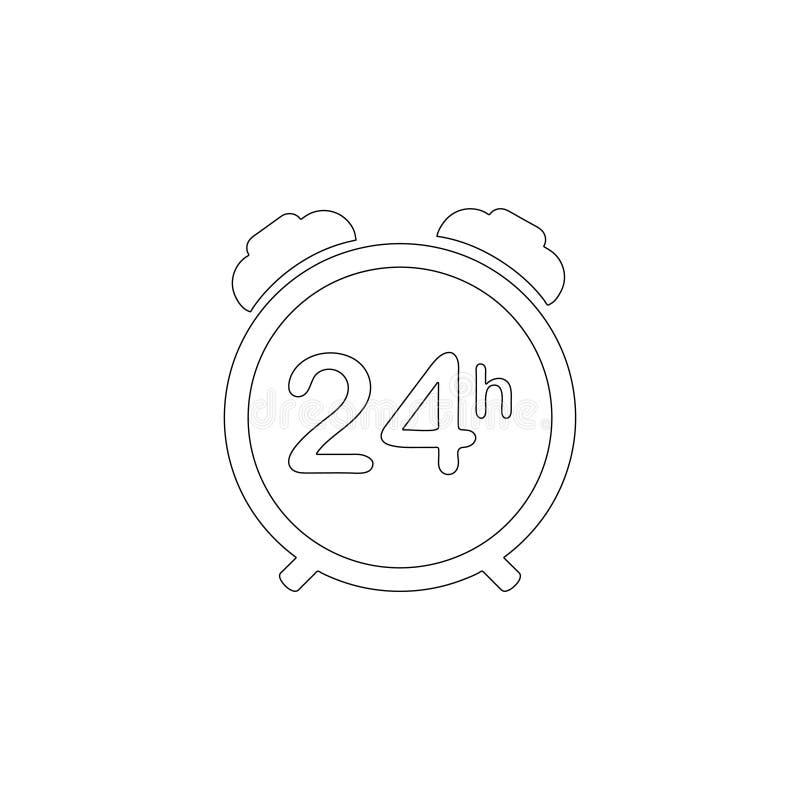 24 stadiga tillg?ngliga service f?r timme Plan vektorsymbol vektor illustrationer