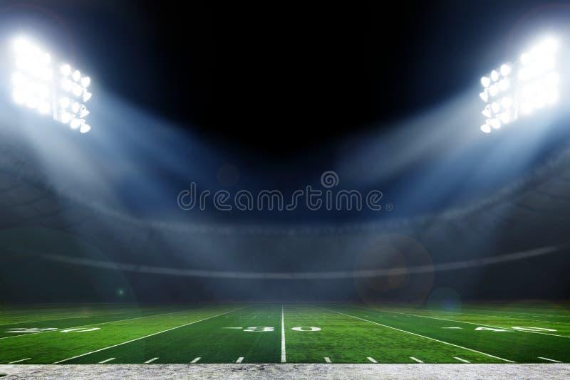 Stadio americano di calcio fotografie stock