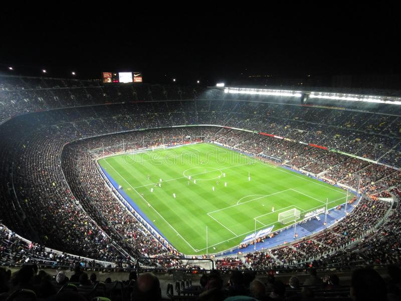 Stadio ammucchiato, Spagna del FC Barcelona fotografia stock
