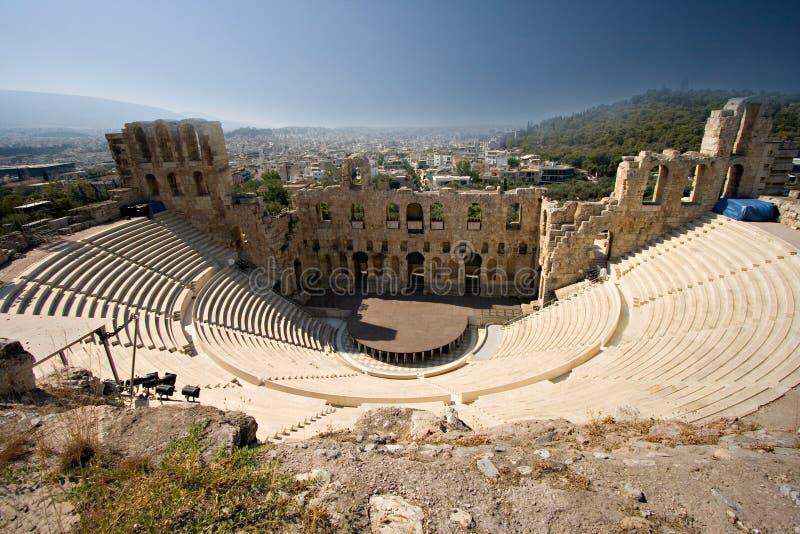 Stadio antico in acropoli fotografia stock libera da diritti