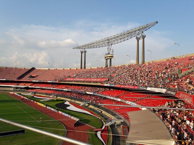 Stadio Cicero Pompeu de Toledo - Morumbi Futebol fotografia stock libera da diritti