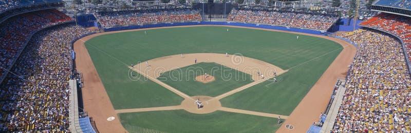 Stadio dei Dodgers, Dodgers v Astros, Los Angeles, California fotografie stock libere da diritti